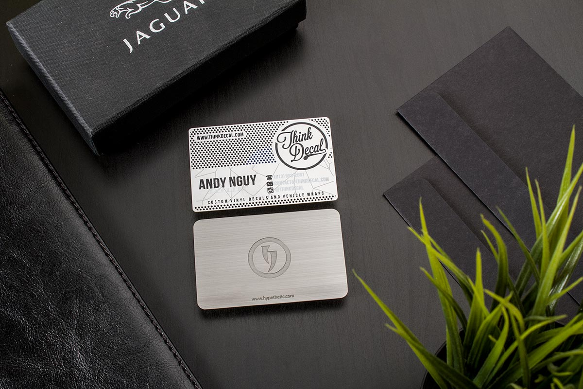 low quantity metal business cards